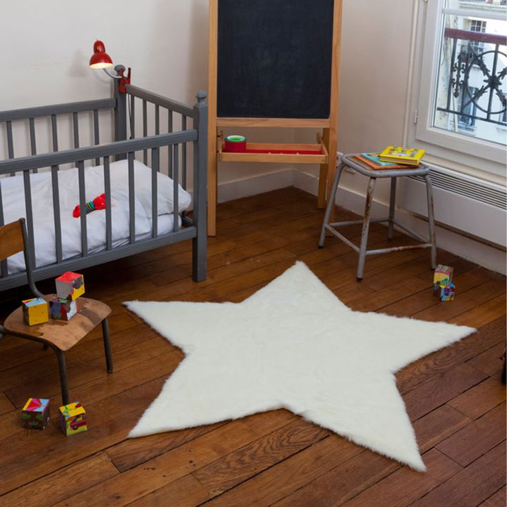 Tapis Tapis étoile fausse fourrure - blanc (140 x 140 cm) Tapis étoile fausse fourrure - blanc (140 x 140 cm)