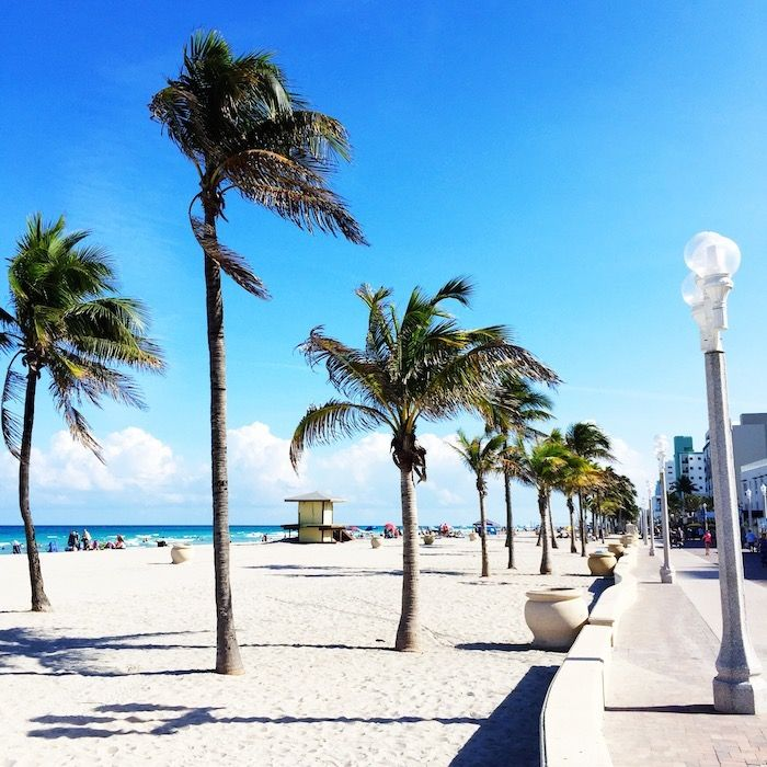 Hollywood Beach, FL... I could really go for The Taco Spot right now!  I miss my home!