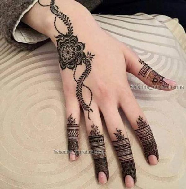 New Floral Henna For Eid