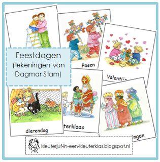 Kleuterklas: Woordkaarten FEESTDAGEN (Dagmar Stam)