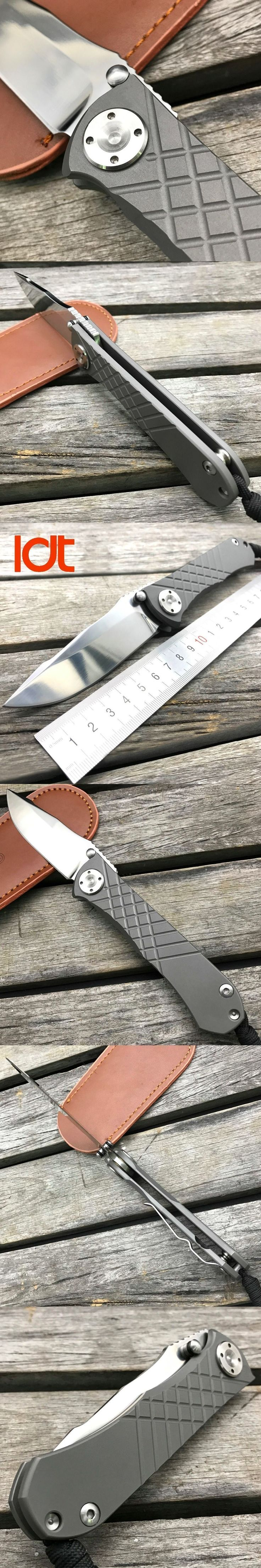 LDT Umnumzaan Folding Blade Knives D2 Blade Titanium Handle Tactical Knife Outdoor Camping Knife Hunting Survival EDC Tools #survivalhunting
