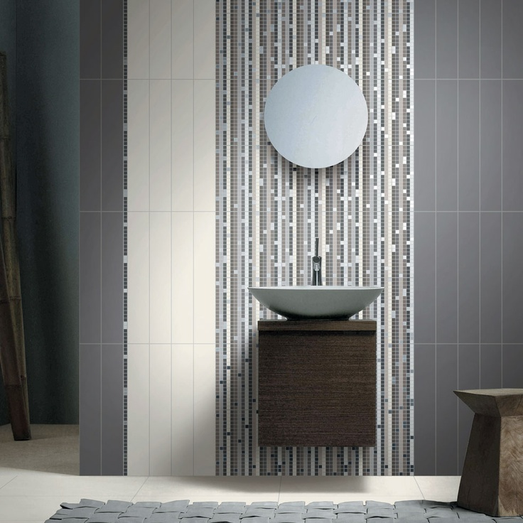 T.U. Cold Black-Cold White + Falls Mosaic   #coem #ceramichecoem #T.U. #white #black #MaisonObjet2013 #paris #influences #design #exhibition #home #homedesign #18to22January2013 #madeinitaly #gresporcellanato #porcelainstoneware #tiles #stonestiles #bathroom #wall #covering #floor #indoor #mosaic #ecology #eco #green