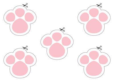 Artesanato Decor e Culinária: Molde das patinhas do coelho para imprimir