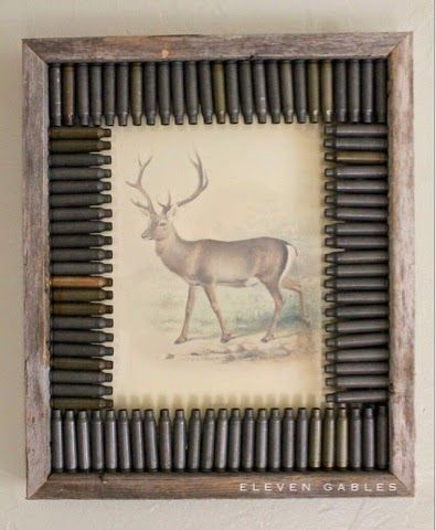 Eleven Gables: DIY Hunting Themed Rustic Frame and Deer Print