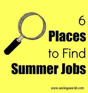 Want to earn some extra cash this summer, but not sure where to start to find a summer job? Check out these 6 great places to find summer jobs.