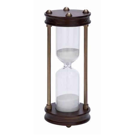 30 MINUTE HOURGLASS TIMER - Antique Style - WHITE SAND