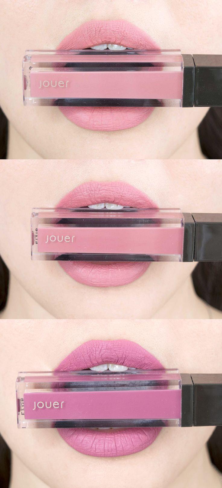 Jouer Cosmetics Long Wear Lip Creme Liquid Lipstick Swatches Combined