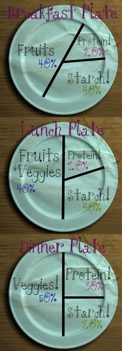 breakfast/lunch/dinner portions After nutrition this would be very helpful! & 36 best Diet Plate Size images on Pinterest | Healthy eating Eat ...