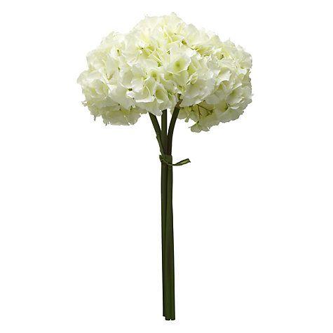 Buy Artificial Hydrangeas, Cream, Bunch of 3 Online at johnlewis.com