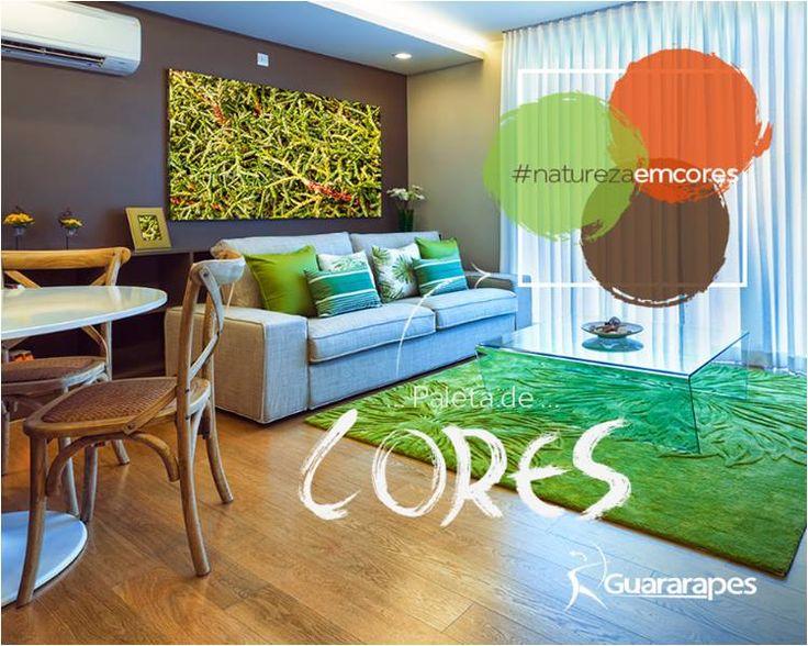 Esta paleta de cores mostra como as cores da natureza combinam tão bem entre si. Inspire-se.   #cores #decoraçãoMDF #decoração #salas #livingroom #DesignInteriores #padrõesMDF #homedecor #peçasMDF #moveisMDF #paineisMDF