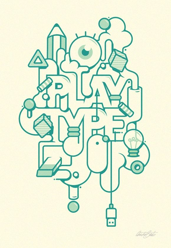 Play type #inspiration #typography
