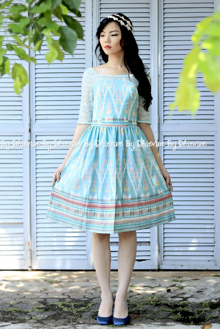 ikat dress | Pendapa Ikat Ijo Ayu Dress | DhieVine | Redefine You