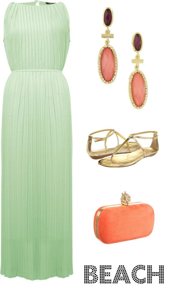 beach wedding guest, love the dress and color combo #Classic design.#Casually Cool!!!#