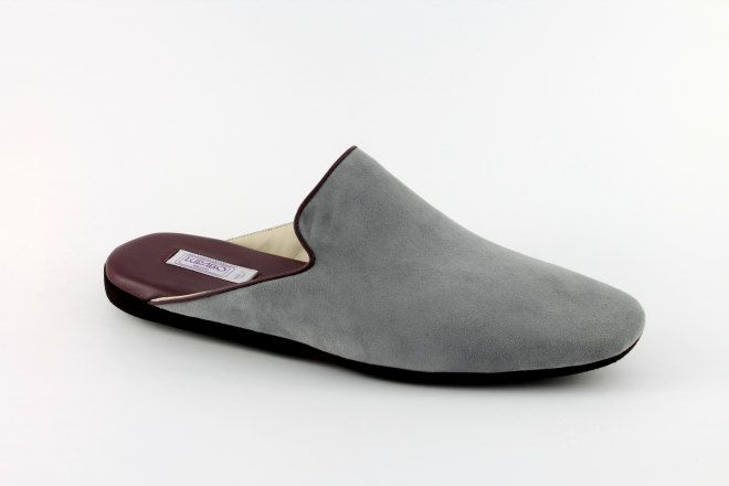 Grey suede Milano men's slippers by Lurabo Milano