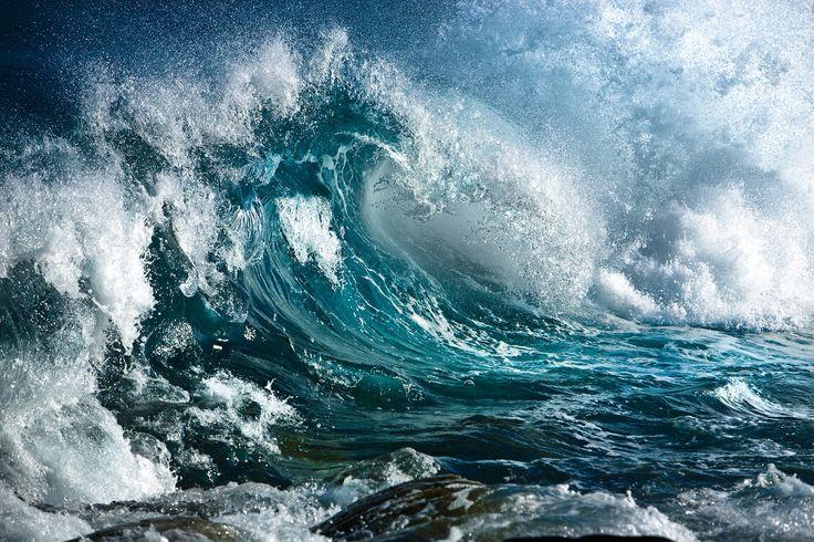 A roaring wave .....
