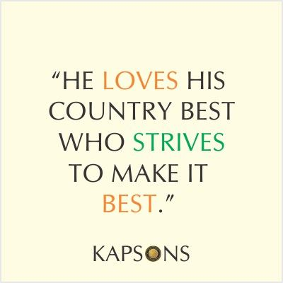 Pledge to make India the best Everyday.... #HappyIndeprndenceDay #Kapsons #CelebrateFreedom