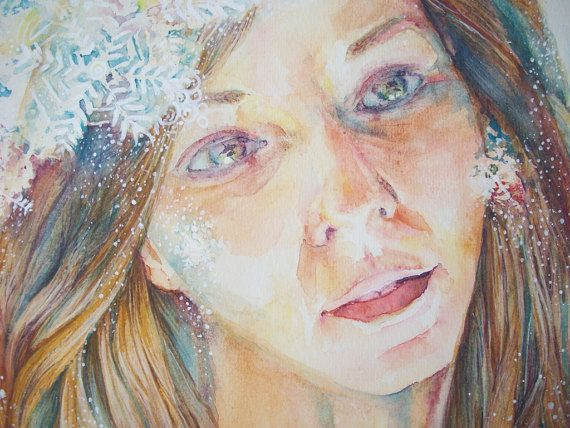 nevica  ritratto donna ritratto con fiocchi di neve di Stellangelo