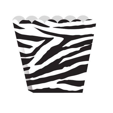 Zebra Scallop-Edged Treat Boxes