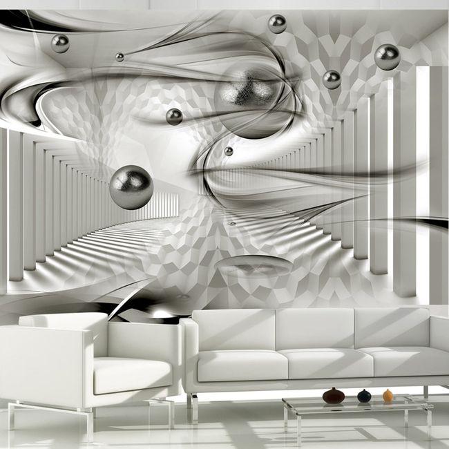 Fotomural decorativo Geometric storm en 3D es una muy buena elección cuando tienes un espacio pequeño o estrecho. Con este fotomural lo ampliaras visualmente ツ