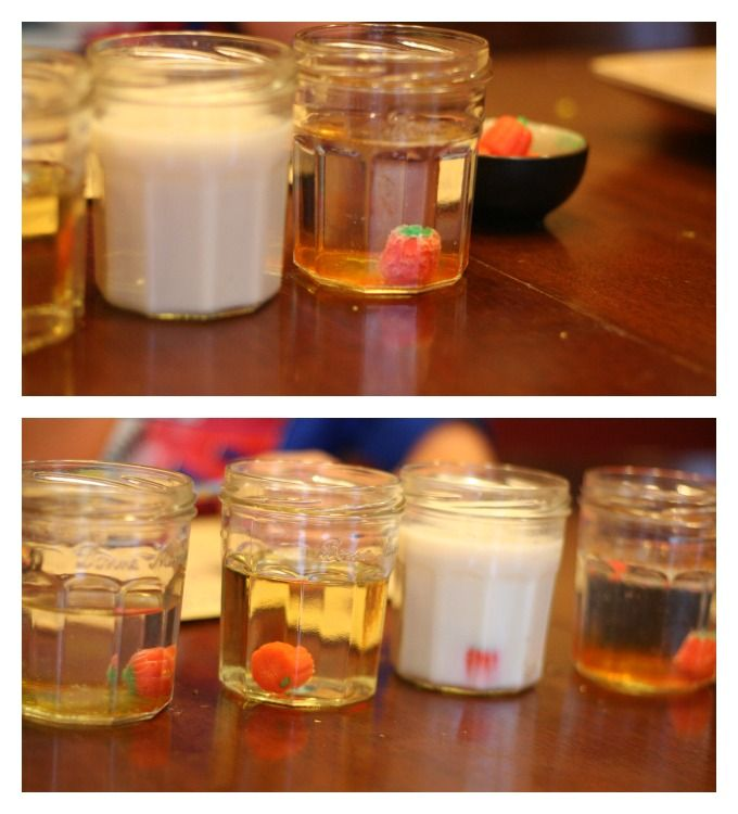 Dissolving Candy Halloween Experiment