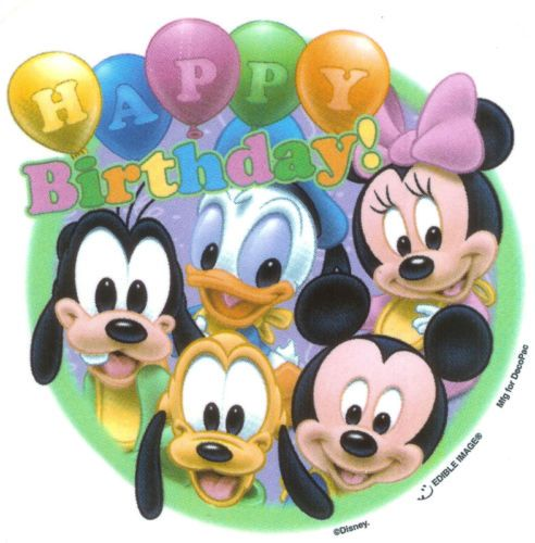 Disney Babies Birthday Wishes Edible Image® Cake Decor | eBay