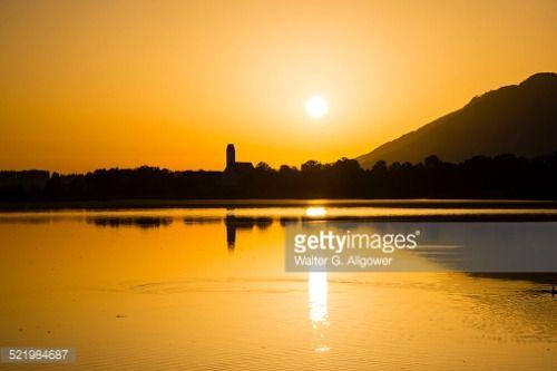 Sunrise, Forggensee Lake, municipality of Waltenhofen at the... #waltenhofen: Sunrise, Forggensee Lake, municipality of… #waltenhofen
