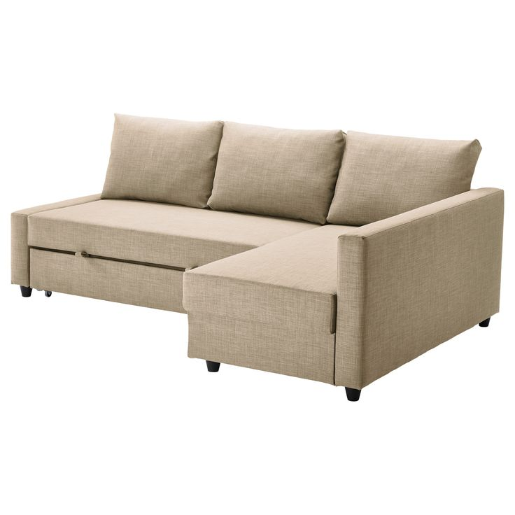 FRIHETEN Corner sofa bed   Skiftebo beige   IKEA