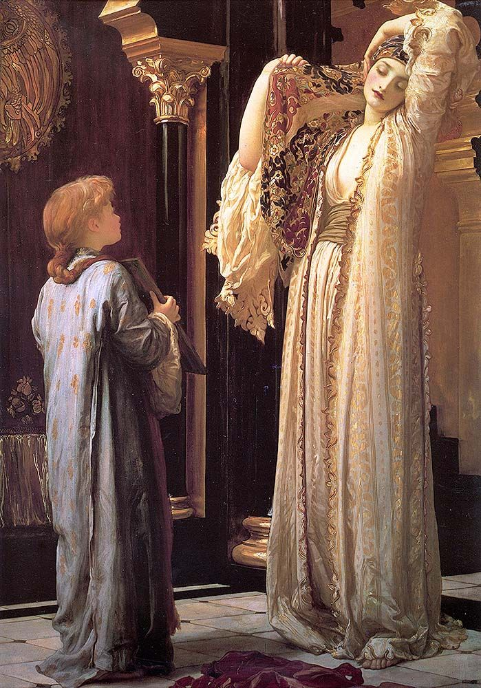 """leighton frederick light of the harem c1880 (from <a href=""""http://www.oldpainters.org/picture.php?/28955/category/12790""""></a>)"""