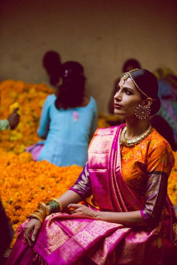 South Indian Bridal Inspiration: Gaurang Shah's Saris