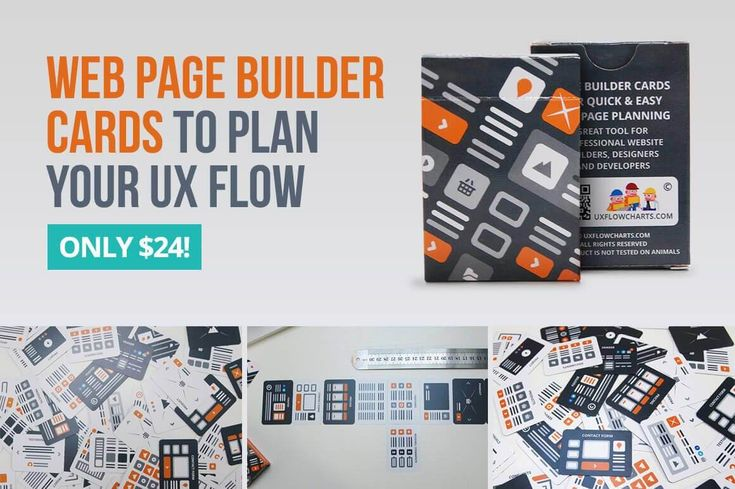 Useful Web Page Builder Cards to Plan Your UX Flow - only $24!