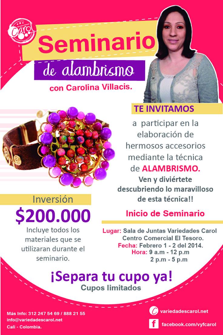 #DIY #Seminario de #Alambrismo con Carolina Villacis, no te lo puedes perder!!!