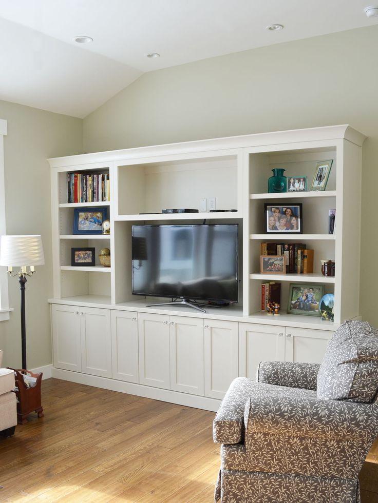 White entertainment centers bookcase for Media center with bookshelves