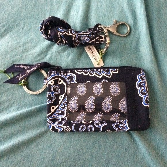 Vera Bradley lanyard blue bandana never used, tags still on Vera Bradley Bags