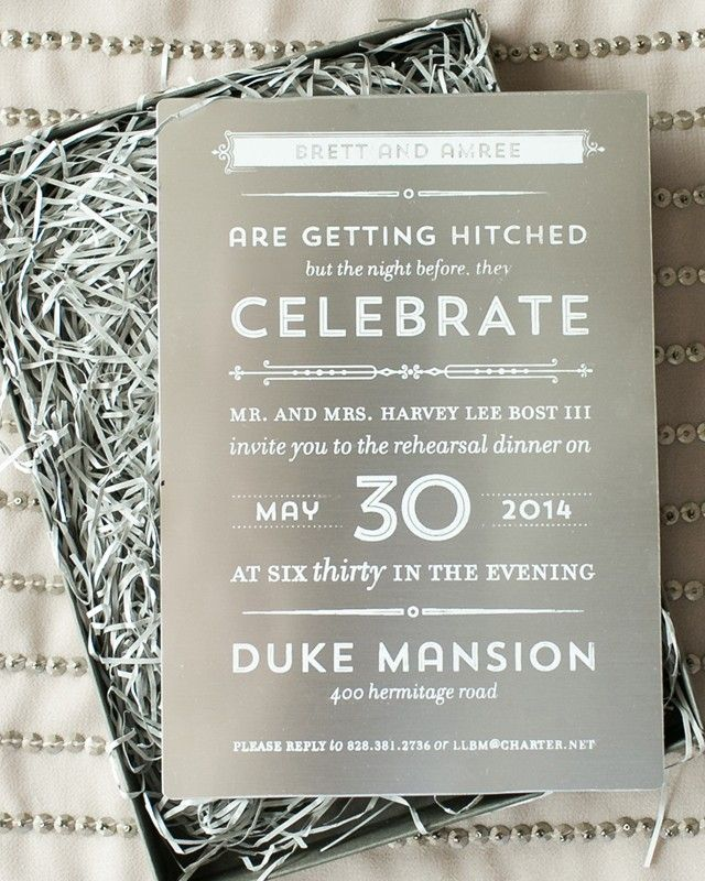 Modern Industrial Rehearsal Dinner Invitations 92 best