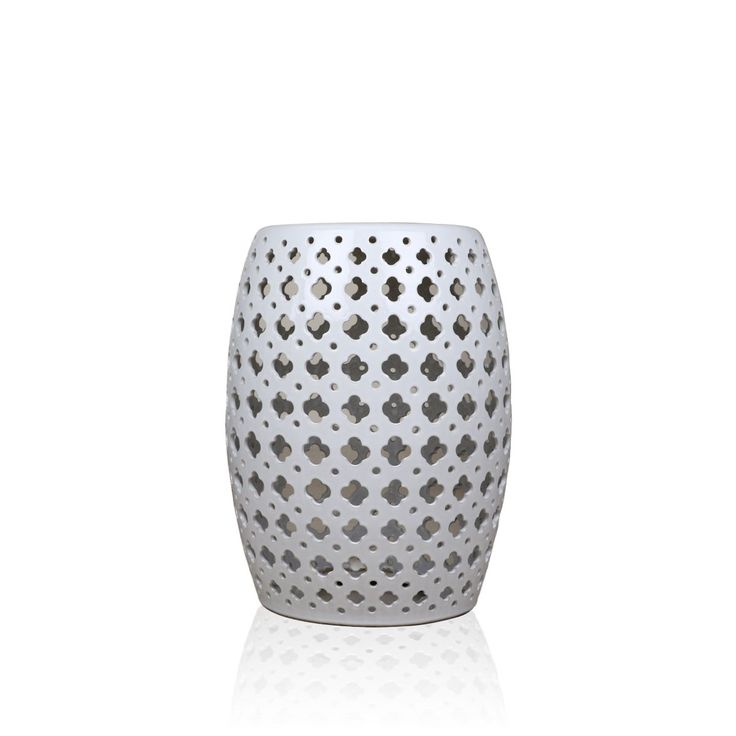 Affan Stool - This gorgeous Affan white stool is perfect to create a mesmeric aura in your living room. The alluring design pattern inspired by those from the monuments gives this piece an elegant heritage look to add grace to your modern decor. This white coloured ceramic craft stool is set to revitalize the ambience of your gloomy living room.#INVHome #LuxuryHomeDecor #InteriorDesign #RoomDecor #Decorations #Decor #INVHomeLinen #Tableware #Spa #Gifts #Furniture #LuxuryHomes #Furniture…