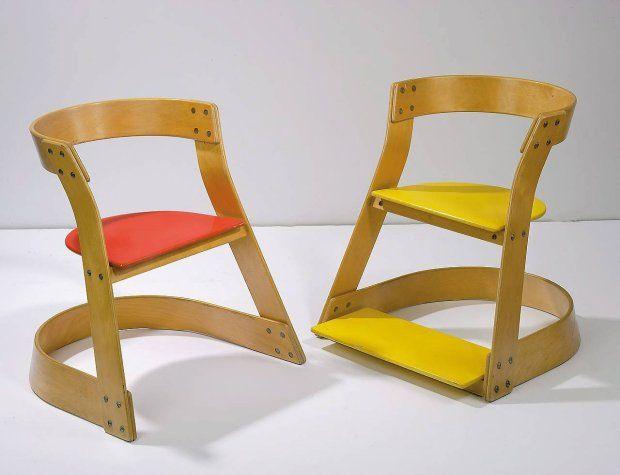 Krzesło dla Centrum Zdrowia Dziecka w Warszawie. Projekt Teresy Kruszewskiej z  1974 roku.