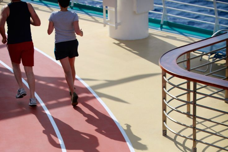 The outdoor jogging and walking track, located on Deck 15, is a great facility for outdoor runners who want to maintain their mileage at sea.