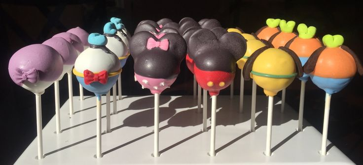 Mickey Mouse Club House Cake Pops by TheCakeBallerina on Etsy