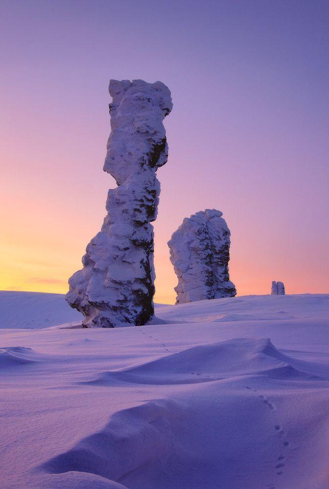 Manpupuner Rock formations, Ural Mountains, Komi Republic