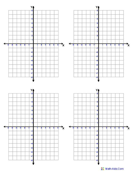 Graph Paper | Printable Math Graph Paper (free printable coordinate planes... adjust to your needs):