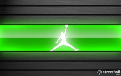 Air Jordan Logo Neon