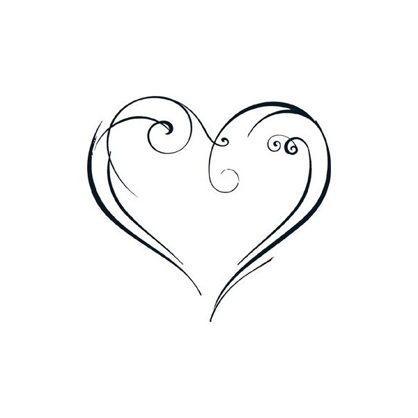 Stylized Heart Artistic Wall Decals ❤ liked on Polyvore
