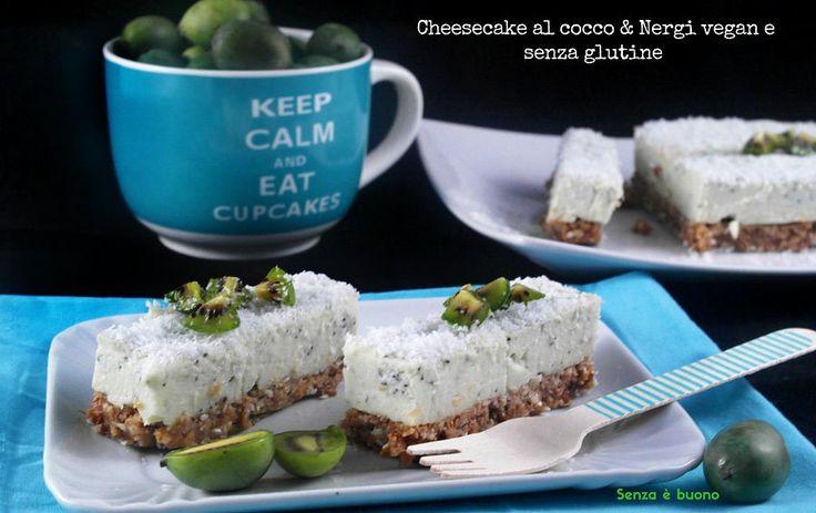 Cheesecake al cocco e Nergi vegan senza glutine http://www.senzaebuono.it/cheesecake-al-cocco-nergi-vegan-senza-glutine/