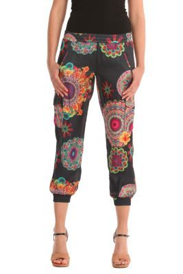 WOMAN WOVEN KNEE TROUSERS