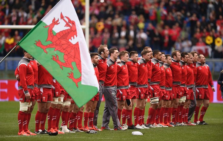 Six Nations Super Saturday! - The Wales team line up for the National Anthems before the Italy v Wales game in Rome | Result - Wales 61-20 Italy
