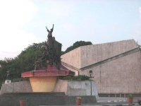 The structure was cast to serve as a tribute to the brave Filipinos who marched along the now-historic avenue of EDSA during the 1986 People Power Revolution to overthrow former president Ferdinand Marcos.