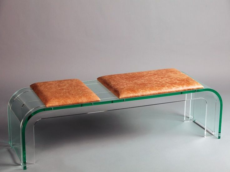 plexiglass bench due uno series by hodara design vittorio hodara - Acrylic Bench