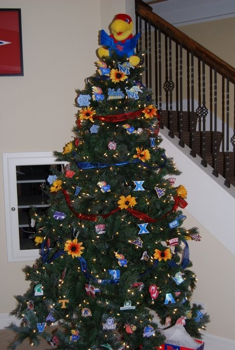 KU tree.... pinning this for someone!!!!   FOR THE HOME   Pinterest    Christmas, Christmas Tree and Christmas decorations - KU Tree.... Pinning This For Someone!!!! FOR THE HOME Pinterest