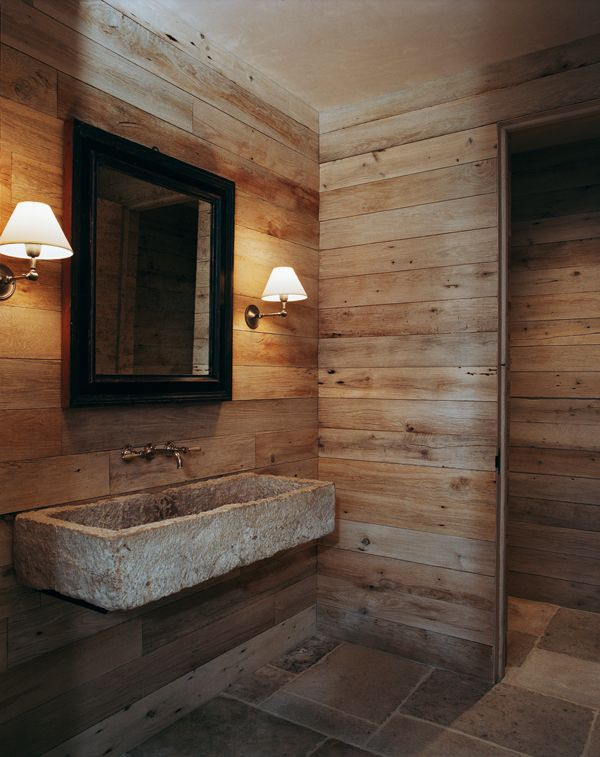 AtelierAM rustic chic bathroom, photo by François Halard