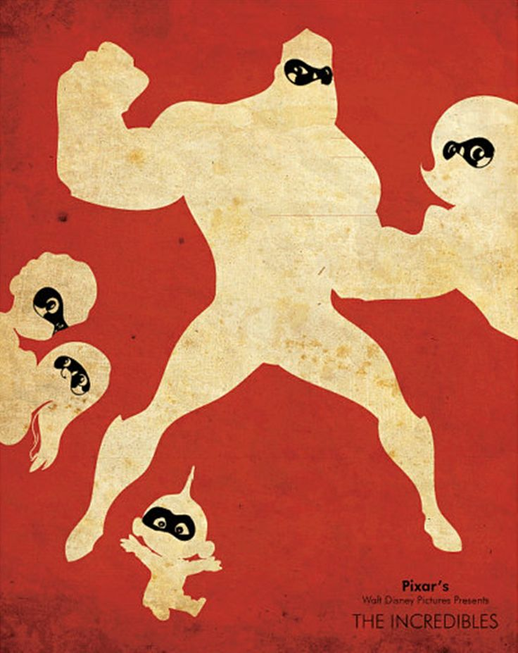 #PIXAR #Minimal_Design_Poster #The_Incredibles #Mr_インクレディブル #ピクサー #ミニマルデザイン_ポスター